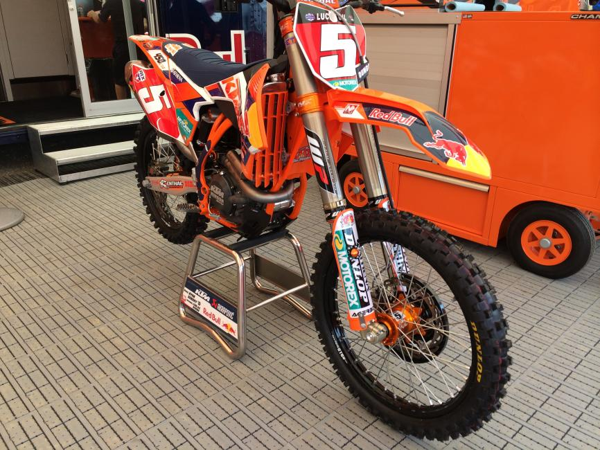 The red plates belong to Ryan Dungey this weekend.  Photo: Jordan Roberts