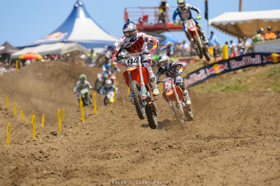 The back of Roczen's jersey was all Dungey saw today.Photo: Cudby