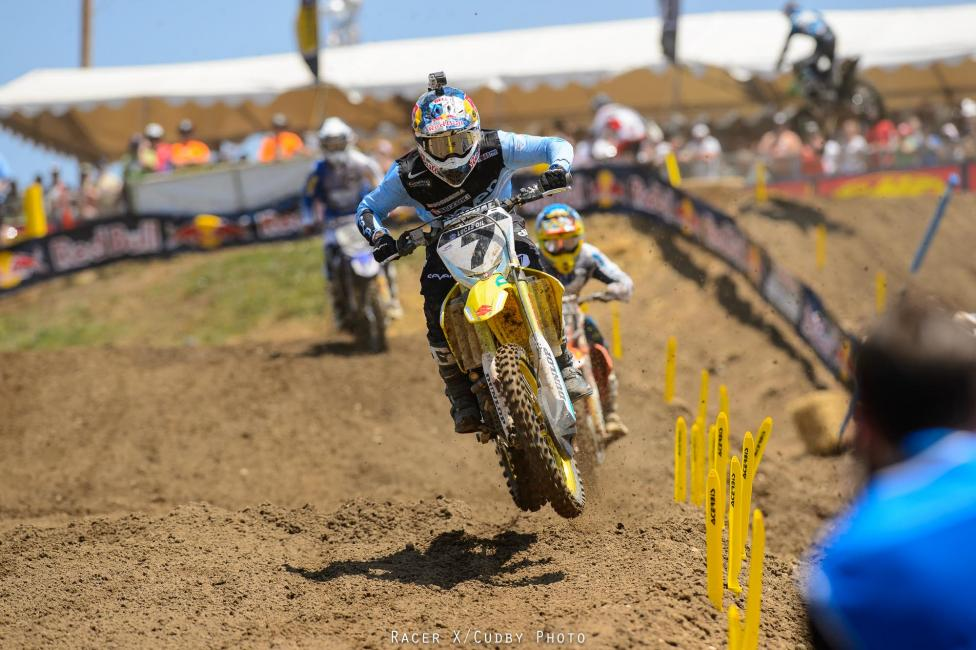 The second moto was better for Stewart, who went 5-3 for fourth overall.Photo: Cudby