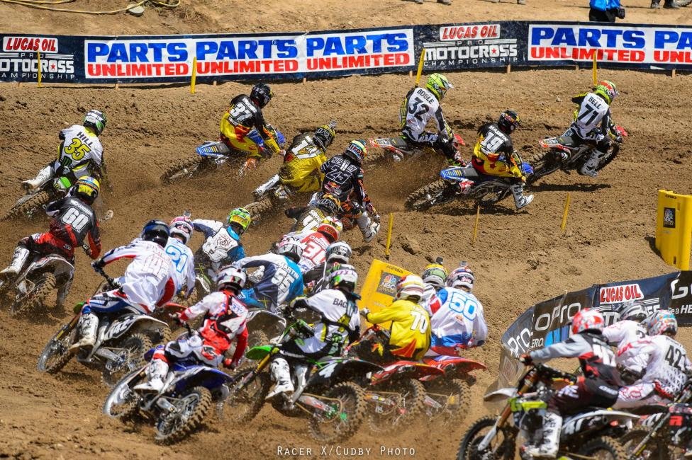 Zach Bell ripped another holeshot at Hangtown.Photo: Cudby