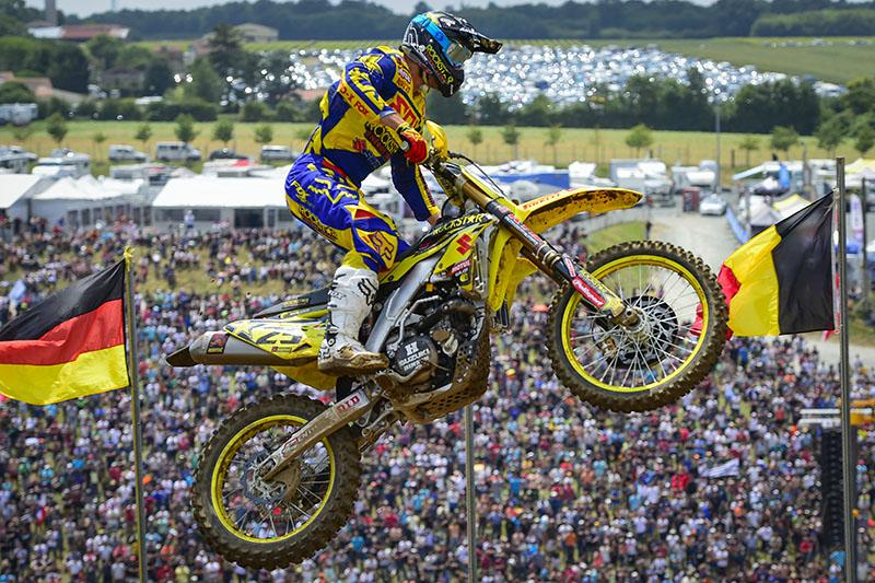 Clement Desalle went 1-1 for the overall in France.  Photo: MXGP