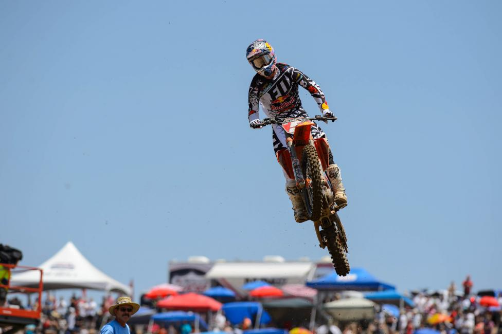 """""""We're [Dungey and Roczen] on the same equipment, although we probably end up with different settings, so overall we have a different feel."""" - Dungey Photo: Simon Cudby"""