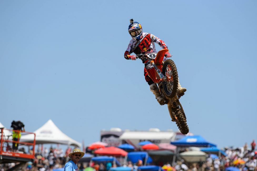 For the first time in his 450 career, Ken Roczen will be wearing the red plates at Thunder Valley. Photo: Simon Cudby
