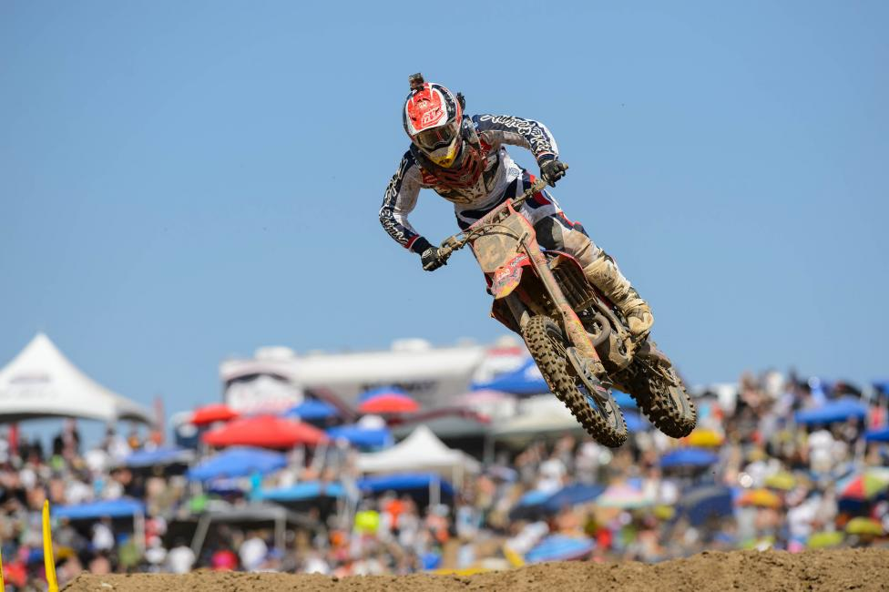 Mookie has made strides in his second year in the 450 Class.