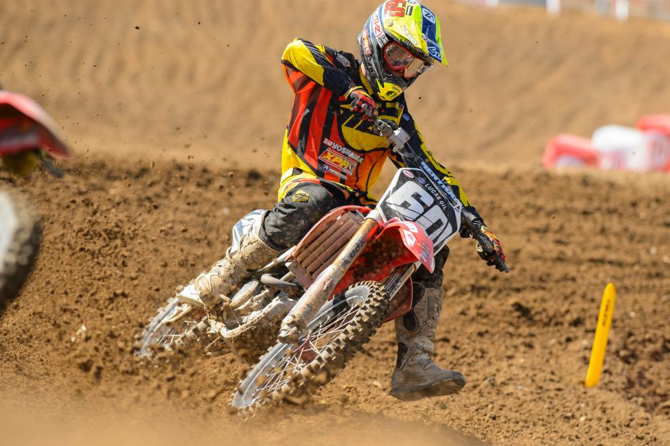 Richardson finished a career high ninth in the second moto at Hangtown.  Photo: Simon Cudby