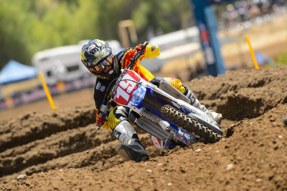 After winning the first four motos of the season, Jeremy Martin takes the red plates with him to Thunder Valley. Photo: Simon Cudby
