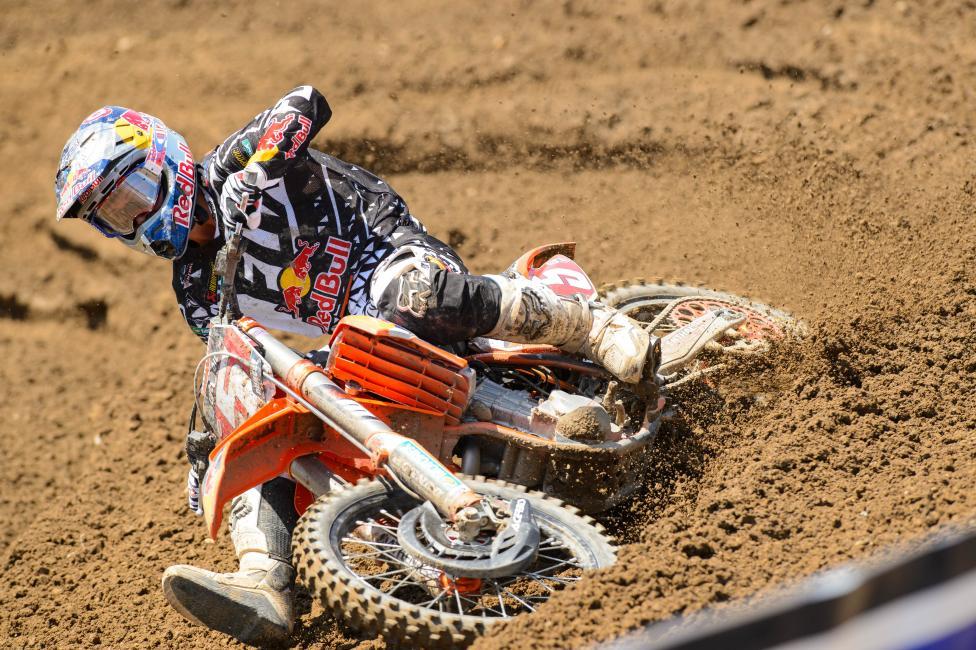 Ryan Dungey is one of two KTM riders to win in the 450 Class.Photo: Simon Cudby