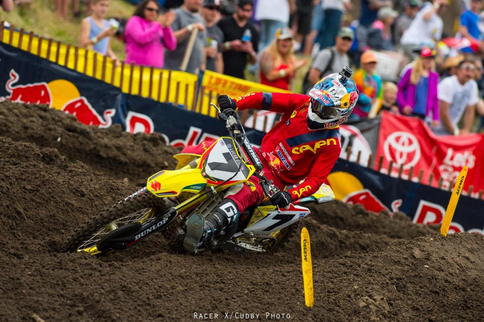 It was good to see some addtional competition up front in the form of Yoshimura Suzuki's James Stewart.Photo: Cudby