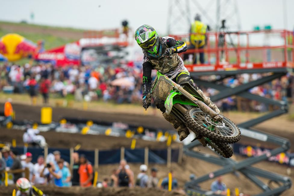 With his win at Thunder Valley, Blake Baggett joined Jeremy Martin as the only other winner in the 250 Class.  Photo: Simon Cudby
