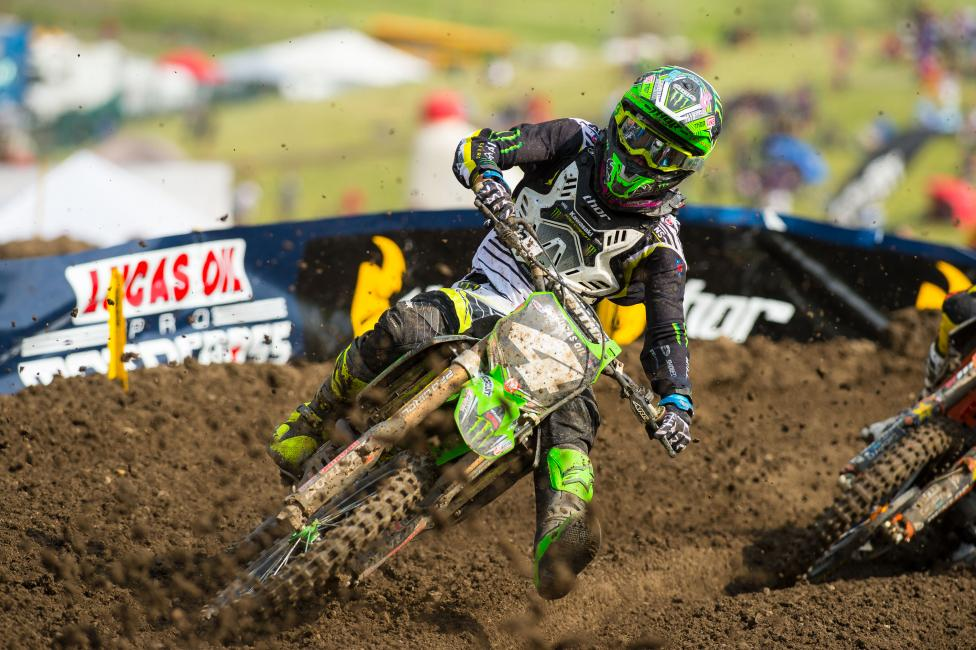 Baggett was the first non blue bike to finish second overall or better in the 250 Class in 2014.
