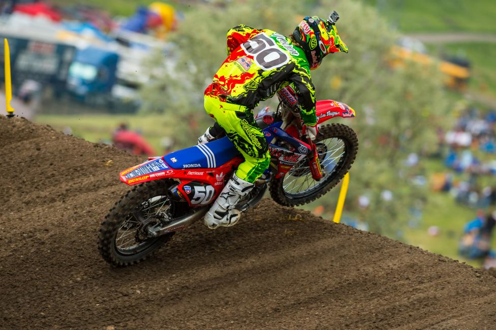 His second at Thunder Valley was the first moto podium of his career. Photo: Simon Cudby