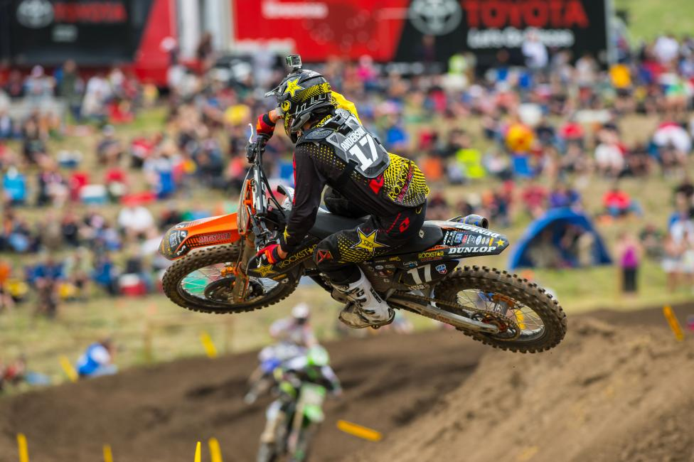 Although he isn't too keen on the track, Jason Anderson finished sixth overall at Thunder Valley.