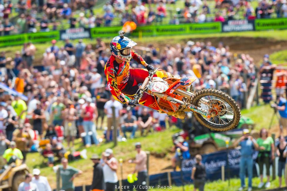 Ken Roczen still holds the points lead in 450MX.  Photo: Simon Cudby