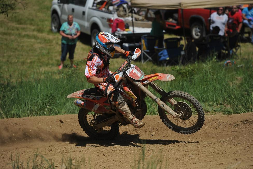 Kailub Russell is the GNCC points leader.