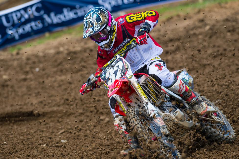 """""""It was a good learning experience today. I haven't led laps, I don't think. It's been a long time either way since I've led laps outdoors."""" - Justin Bogle Photo: Simon Cudby"""
