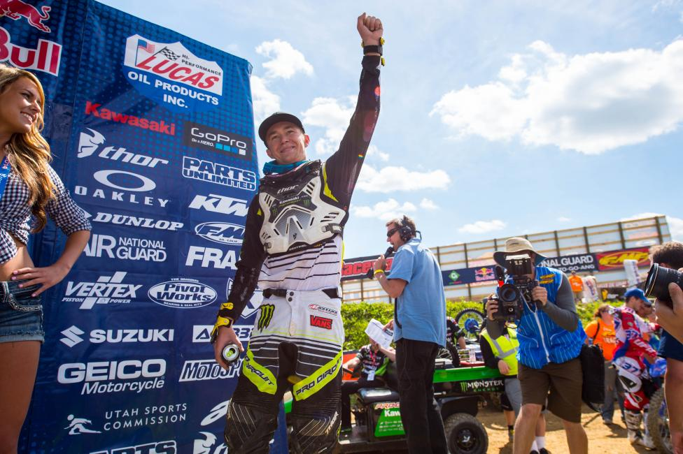 Blake Baggett has won three of the last four motos in the 250 Class.