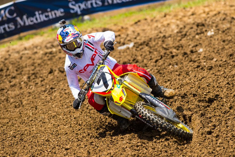 Stewart has now won three of the last four motos outdoors.