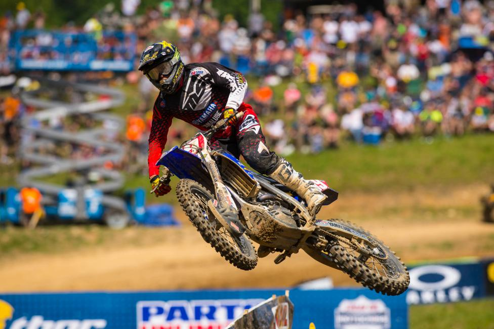 Martin leads teammate Cooper Webb by 29 points in the 250 Class.  Photo: Simon Cudby