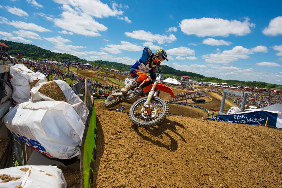 From here on out, the GNCC and Pro Motocross schedules line up just perfectly to where Ryan could race all of them without any conflicts...Photo: Simon Cudby
