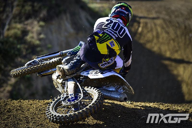 He certainly knows how to scrub....Photo: MXGP.com