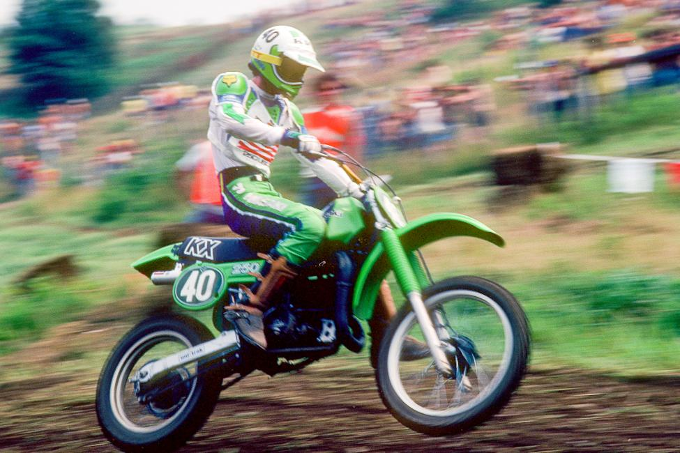 David is known as a Honda man, but he broke through on Kawasakis. Photo: John Hoffner