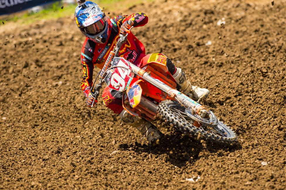 Meanwhile through all of this drama, Ken Roczen goes into the first weekend break of the season with the red plate.