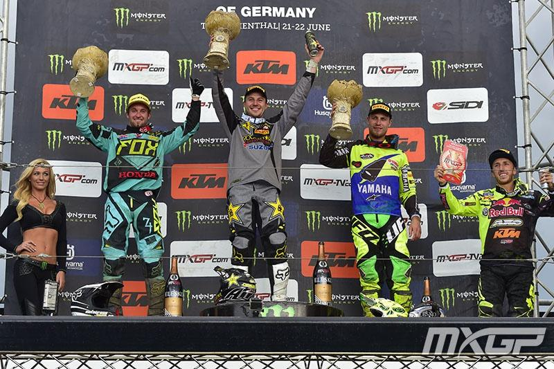 Clement Desalle captured the overall in Germany.  Photo: MXGP