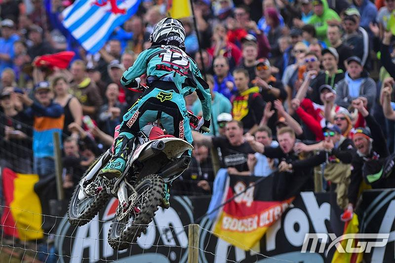 German Max Nagl had the fans in an uproar with a Moto1 win.  Photo: MXGP