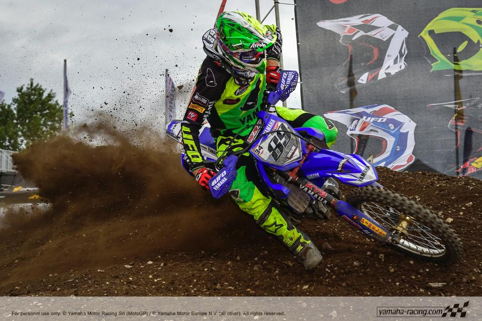 Van Horebeek is currently third in MXGP points. Photo: Yamaha Racing