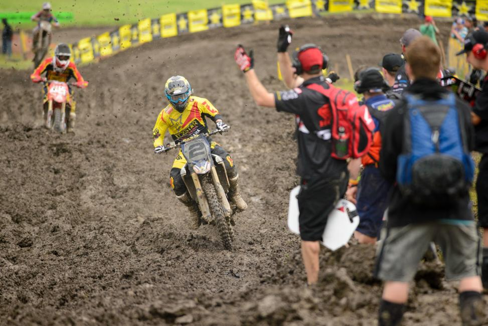 Bobby Kiniry managed the mud to capture the MX1 overall.