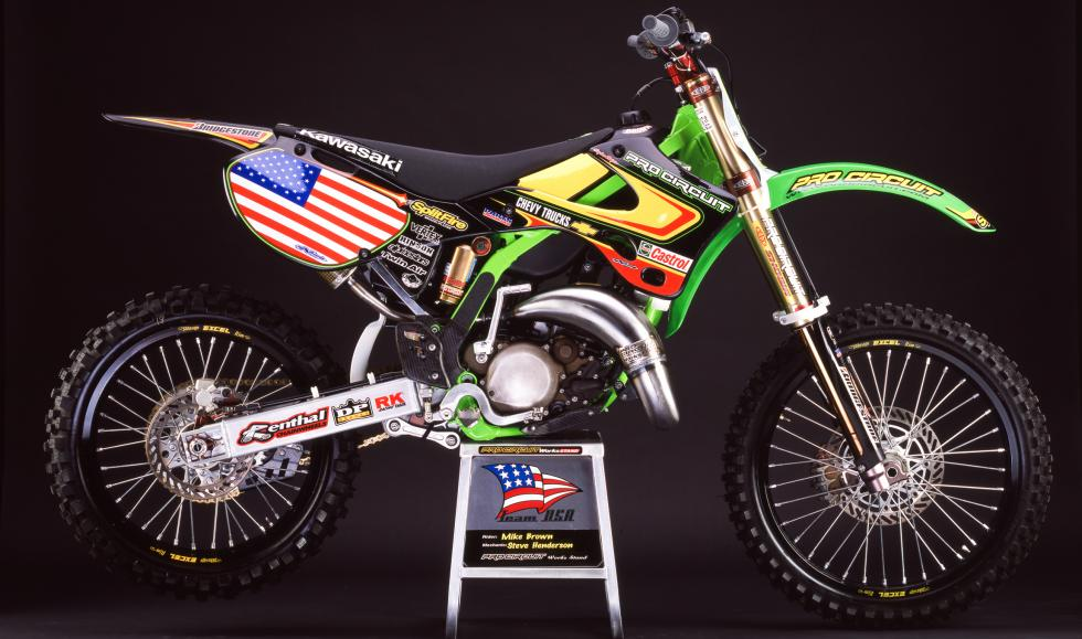 Mike Brown never got to race the Motocross des Nations, as Team USA opted out of the '01 event following the September 11th attacks. The PR came out on September 14th, but we couldn't find it in full. A news blurb from our website that day then summed it up with,