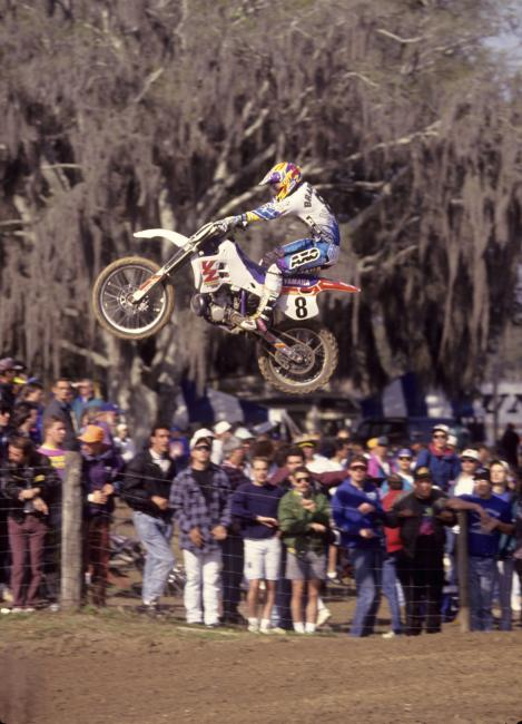 At 17 Damon Bradshaw was winning supercross races in the premier class against the best in the world. At 21, he was done. He'd return a few years later, but would never quite find his old speed.Photo: Racer X Archives