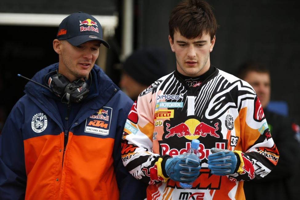 Like his current team manager Stefan Everts (left) did in 1997 at Unadilla, Jeffrey Herlings is expected to race at least one Lucas Oil Pro Motocross event this summer. Photo: Ray Archer