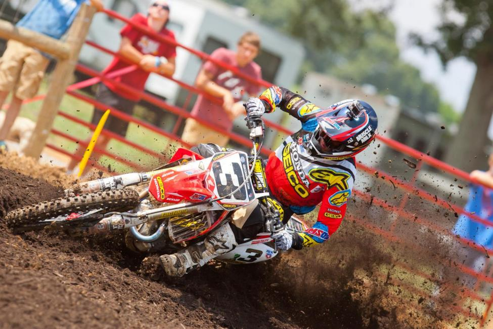 The 2013 250MX Champion, Eli Tomac, will make his 450MX debut this weekend. Photo: Andrew Fredrickson