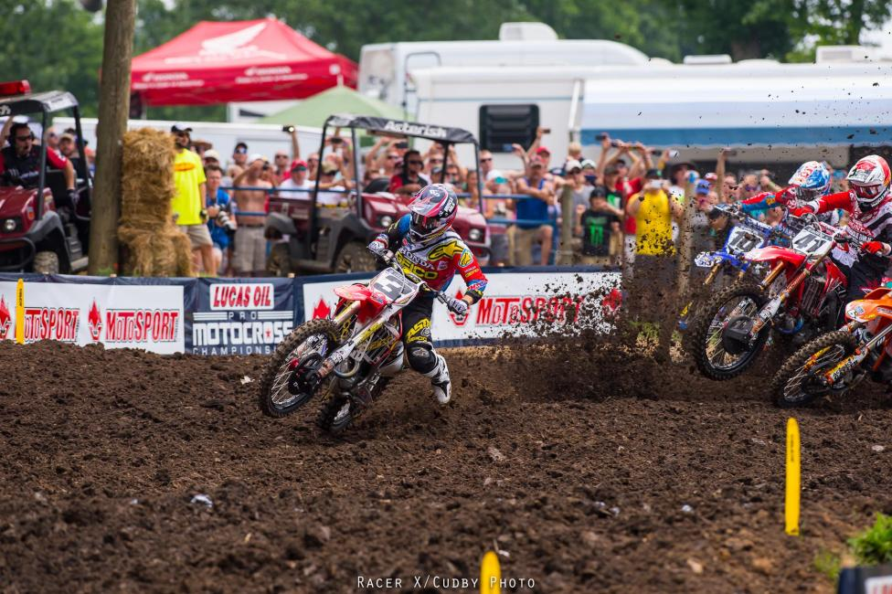 Eli Tomac's return to action was impressive--he was third overall and led a bunch of moto one.