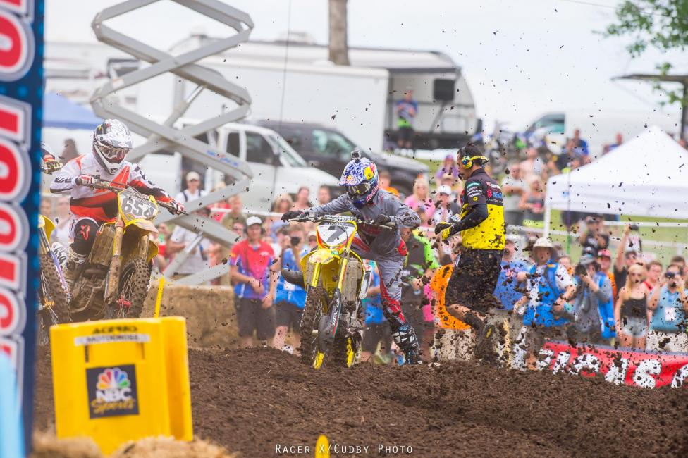Two first-turn crashes ruined any chance of a James Stewart podium.Photo: Cudby