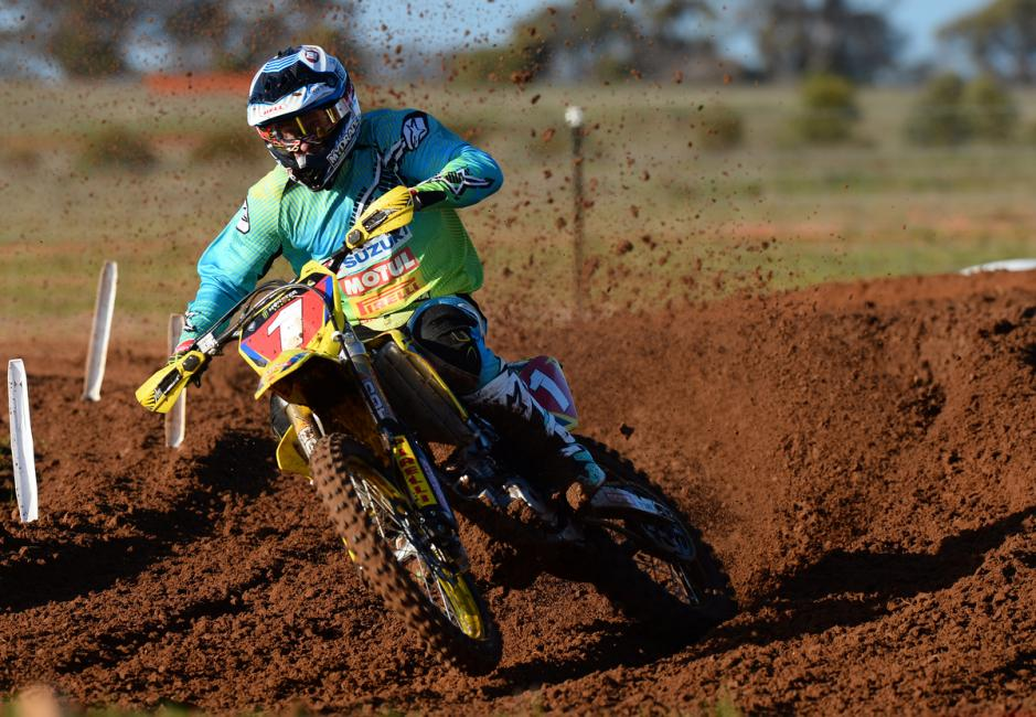 Matt Moss finished third this weekend to keep hold of the red plate.  Photo: Jeff Crow