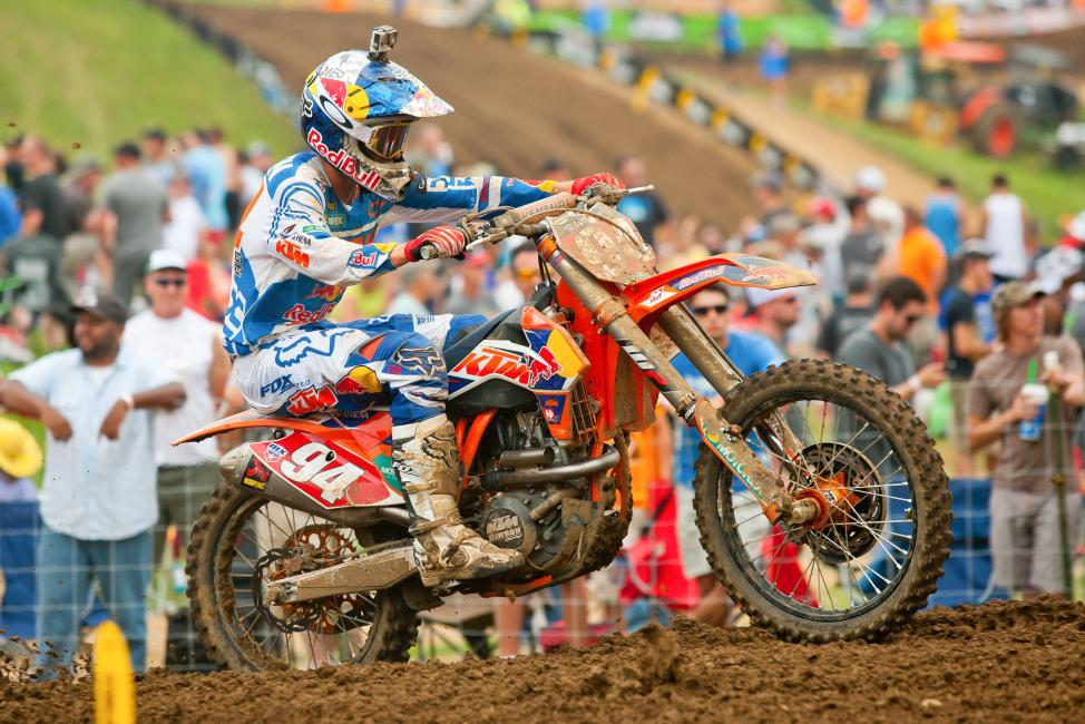 Ken Roczen's 2-1 performance at Muddy Creek was enough to edge teammate Ryan Dungey. Photo: Andrew Fredrickson