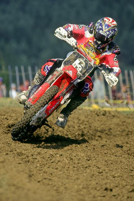 Lamson holds a special place in history by winning a moto overall on 125 at the Motocross des Nations.Photo: Racer X Archives