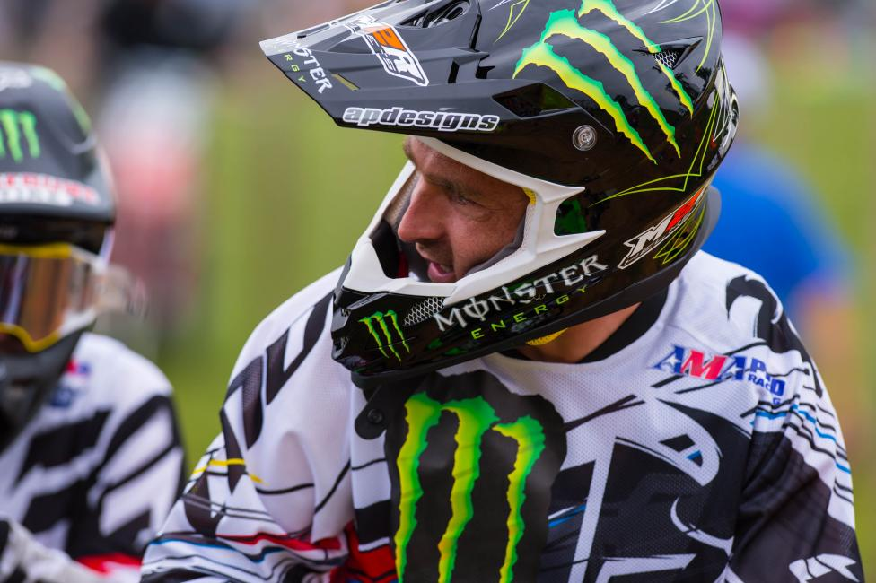 Brett Metcalfe had to deal with a back injury at Muddy Creek.