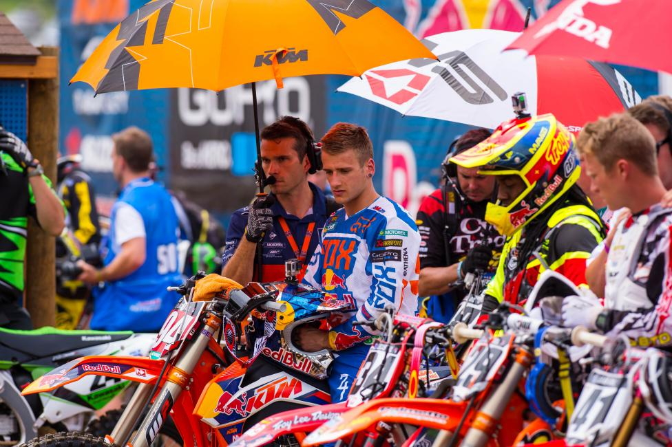 Ken Roczen (above) and Ryan Dungey left little to be imagined at Muddy Creek.  Photo: Simon Cudby