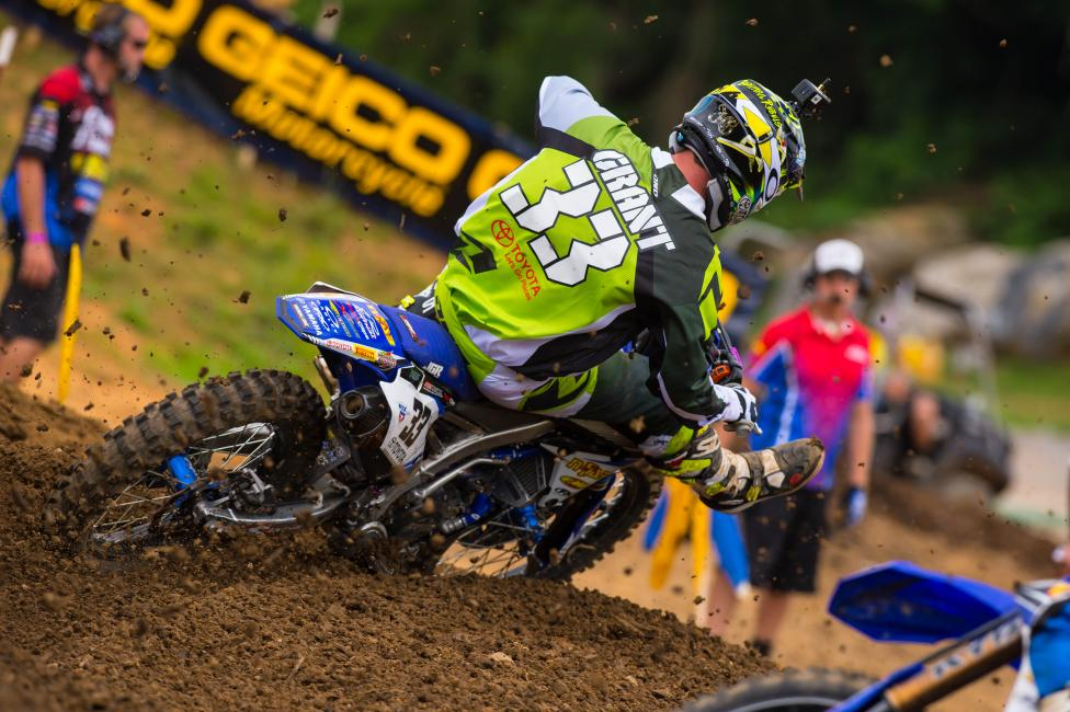Josh Grant came from way, way back in the first moto to capture 11th. Photo: Simon Cudby