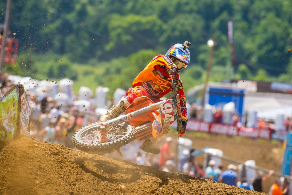 Just five rounds into his 45MX rookie season, Roczen leads veterans Ryan Dungey, James Stewart and Trey Canard.Photo: Simon Cudby