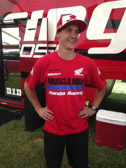 All smiles for Fredrik Noren in his new role with Honda.  Photo: DC