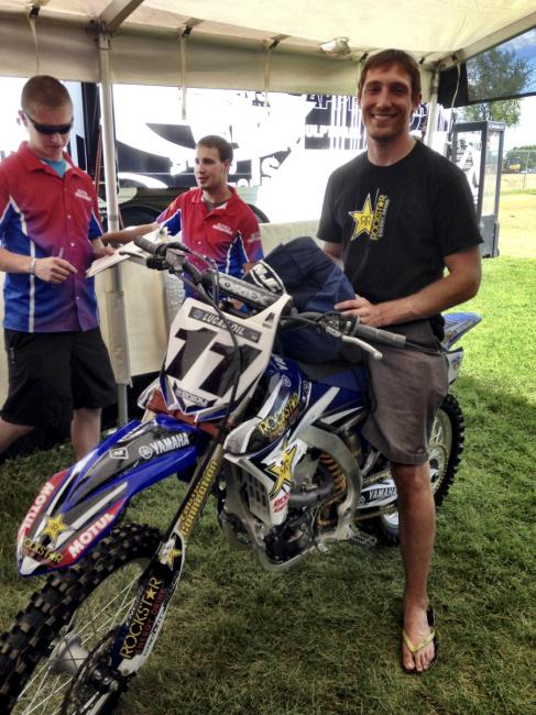 Kyle Chisholm made the very long trip to RedBud from Florida.