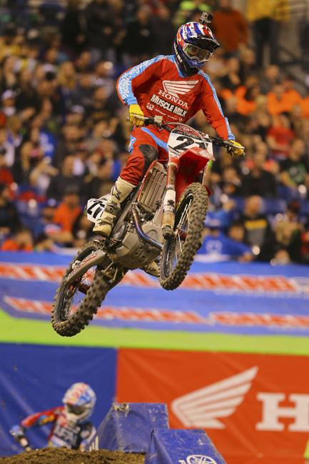 Cole Seely should have been high on our list yesterday for his excellent rides as a 450 fill-in for Team Honda Muscle Milk.