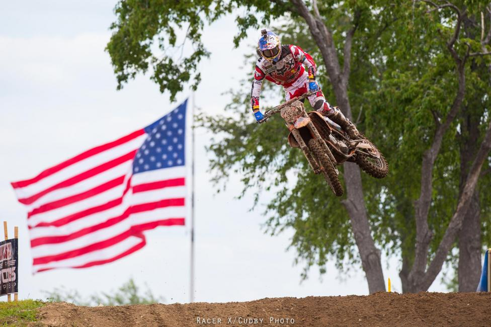 Ken Roczen went 1-1 at RedBud and extended his lead in points.Photo: Simon Cudby