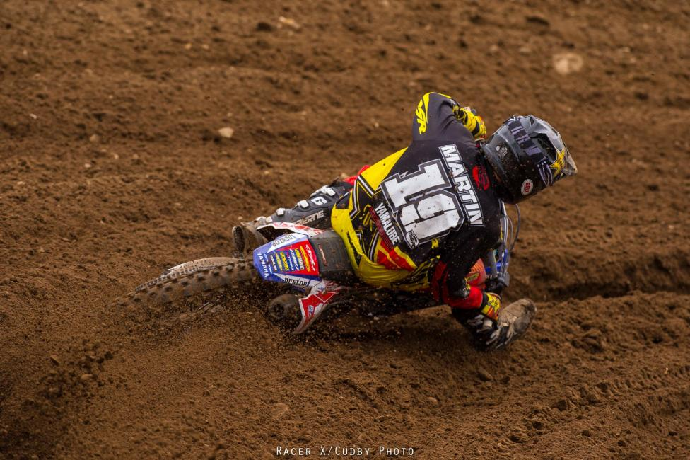 Jeremy Martin won the 250 overall at RedBud with 1-2 finishes.Photo: Simon Cudby