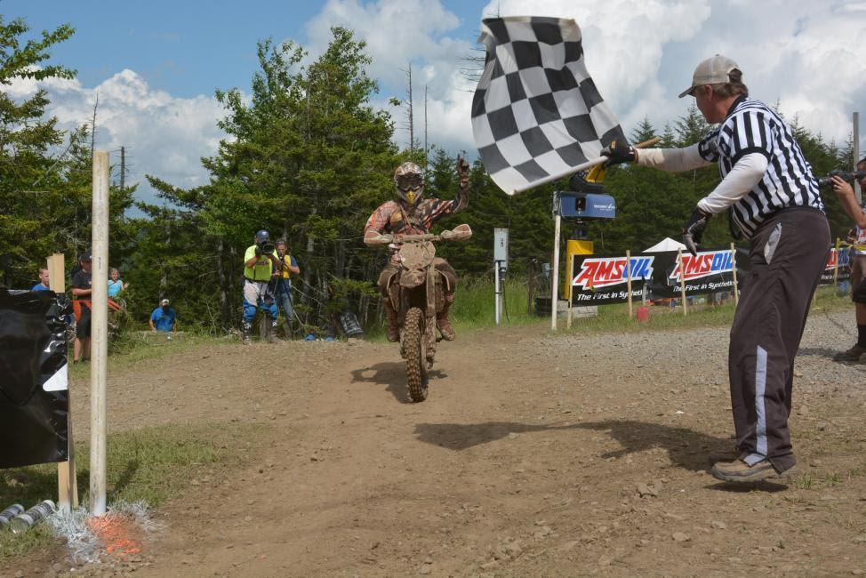 Kailub Russell holds a comfortable lead in the GNCC standings.