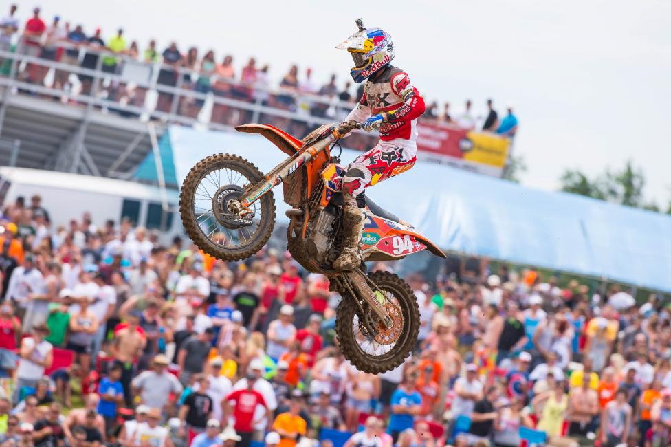 Ken Roczen won the overall at RedBud.  Photo:Simon Cudby